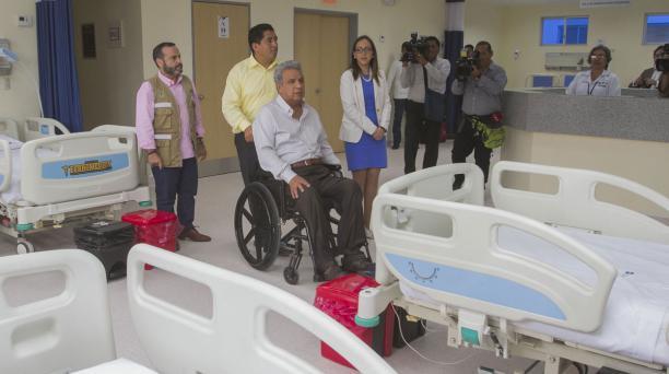 El Centro de Salud Ciudad Victoria, en Guayaquil, fue inaugurado por el presidente Lenín Moreno el pasado 9 de octubre. Aquí se abrieron plazas. Archivo: Enrique Pesantes / El Comercio