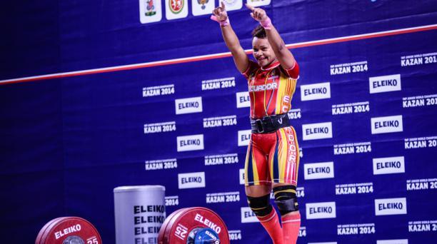 Neisi Dajomes, una de las mejores deportistas ecuatorianas. Foto de la cuenta Flickr del Ministerio del Deporte