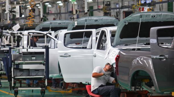 La planta de GM-OBB en Quito produce al día 100 vehículos, 40 menos que en el 2017. Foto: Julio Estrella / EL COMERCIO