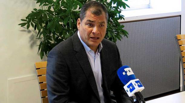 El expresidente Correa aseguró que no volverá al país. Foto: EFE.