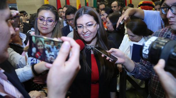 La asambleísta Sofía Espín fue destituida de su cargo en la Asamblea Nacional, este 13 de noviembre del 2018. Foto: Diego Pallero/ EL COMERCIO
