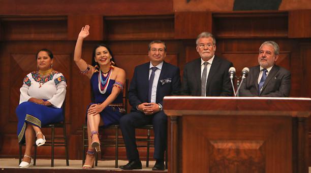 Consejeros del CNE fueron posesionados en la Asamblea Nacional. Foto: Vicente Costales / El Comercio