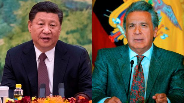 El miércoles 12 de diciembre del 2018, a las 17:15, en el Palacio del Pueblo, el presidente de Ecuador, Lenín Moreno (der) y su homólogo chino, Xi Jinping, mantendrán un encuentro de trabajo para la suscripción de ocho convenios bilaterales. Fotos: AFP
