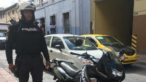 El cabo Jhonny Camacho fue golpeado en el sector de Monjas-Quito. Foto: EL COMERCIO