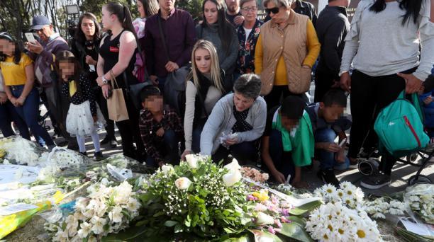 Una cadete ecuatoriana está entre los fallecidos del atentado de un coche bomba a una escuela de policía en Bogotá, ocurrido el pasado 17 de enero del 2019. Sus restos llegarán a Quito este sábado 19. Foto: EFE