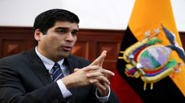 El vicepresidente del Ecuador, Otto Sonnenholzner, aclara que el diseño de gabinete sectorial se empezó a estructurar con su llegada al Gobierno Nacional. Foto: EFE