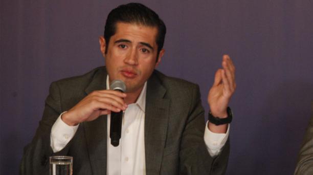 El ministro de Economía y Finanzas, Richard Martínez, destacó que las decisiones económicas del Gobierno han sido respaldadas por la comunidad internacional. Foto: Galo Paguay / EL COMERCIO