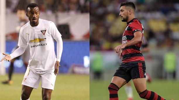 Jefferson orejuela (Izq.) tiene 26 años. Está en Liga a préstamo. Es seleccionado nacional. (der.) tiene 24 años. Flamengo adquirió sus derechos. Juega por Uruguay. Fotos: EL COMERCIO.