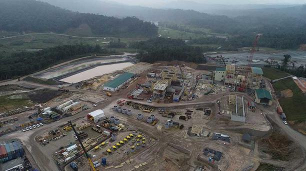 El proyecto aurífero Fruta del Norte se desarrolla en Zamora Chinchipe. El total de inversión esperada de este proyecto es USD 1 240 millones. Foto: Archivo / EL COMERCIO