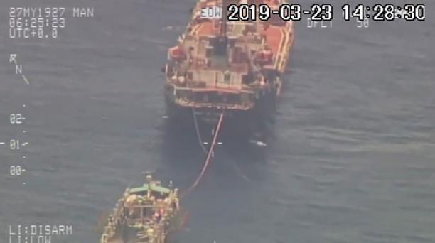 """Una flota pesquera de 245 buques con bandera extrajera, sobre todo chinos y panameños, dedicados a prácticas de """"pesca ilegal, no declarada y no reglamentada"""", han ocupado entre los meses de marzo y abril aguas internacionales al suroeste de Galápagos. Fo"""