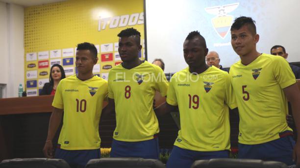 Los jugadores del combinado tricolor Sub 20, el jueves 25 de abril de 2019 en la Casa de la Selección. Foto: David Paredes / EL COMERCIO