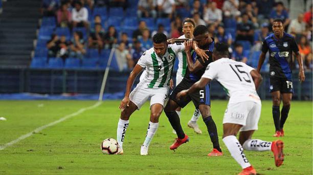 Con el empate frente al América, Emelec suma una racha de dos partidos sin ganar. Foto: Enrique Pesantes / EL COMERCIO