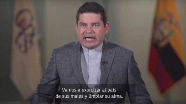 La Secretaría de Comunicación se negó a transmitir en cadena nacional un video de José Tuárez, presidente del Consejo de Participación. Foto: Vicente Costales/ EL COMERCIO