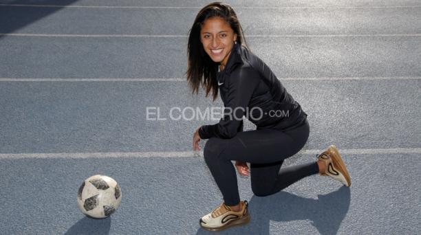 Kerly Real tiene 21 años y juega en el Córdoba CF de la Segunda Categoría de la Liga Española. Formó parte de la Selección que participó en el Mundial de Canadá 2015. Foto: Patricio Terán / EL COMERCIO