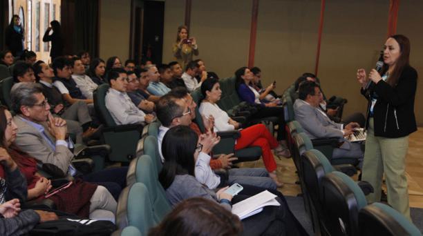 La Dinardap ofreció el jueves un taller en la UTE sobre protección de datos personales. Foto: Galo Paguay  / EL COMERCIO