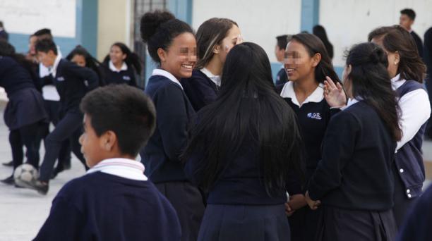 Chicos venezolanos se han acoplado y hecho amistades en instituciones de Quito. Foto: Galo Paguay/ EL COMERCIO.
