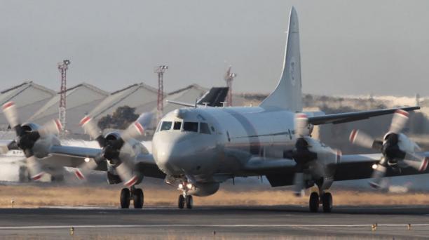 En septiembre del año pasado, el avión estadounidense Orion P3 arribó al aeropuerto de Guayaquil y fue mostrado a las autoridades ecuatorianas. Foto: Archivo/ EL COMERCIO.