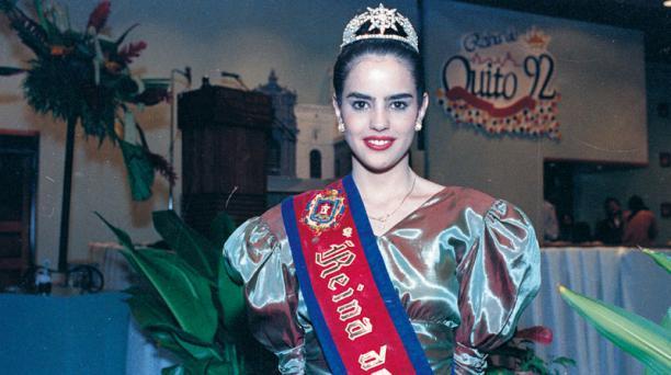 Paola Vintimilla fue electa como reina de Quito en 1991. Foto: archivo/ EL COMERCIO