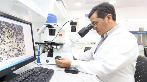 Manuel Baldeón lideró este estudio sobre las ventajas de los probióticos. Foto: Vicente Costales/ EL COMERCIO.