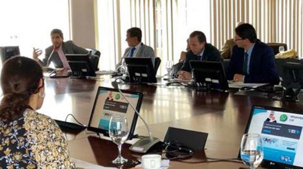 Un equipo del FMI se reunió con empresarios en mayo para revisar las metas del plan. Foto: Cortesía: Cámara de Industrias y Producción