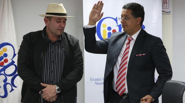 Christian Cruz fue electo como nuevo presidente del Cpccs. Foto: Vicente Costales / EL COMERCIO