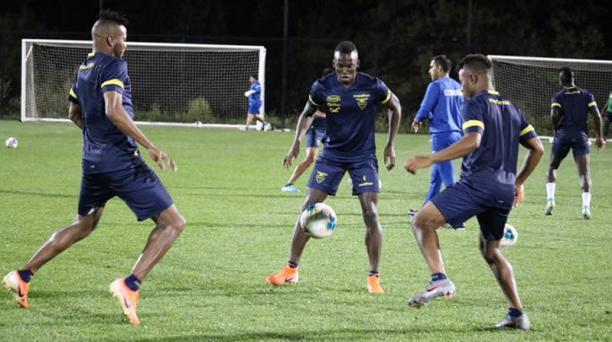 Los jugadores de Ecuador durante la práctica del 4 de septiembre del 2019, en Estados Unidos. Foto: FEF