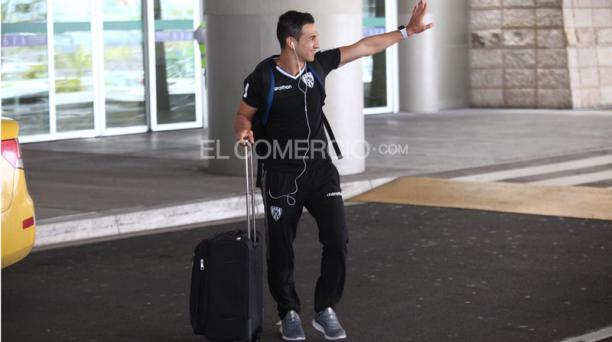 Los jugadores de Independiente del Valle llegaron el jueves 19 de septiembre del 2019 al aeropuerto Mariscal Sucre de Quito después de vencer 2-0 a Corinthians por las semifinales de la Copa Sudamericana. Foto: Julio Estrella / EL COMERCIO
