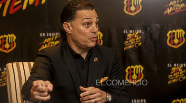 Carlos Alfaro Moreno, candidato a la presidencia de Barcelona SC. Foto: Enrique Pesantes / EL COMERCIO