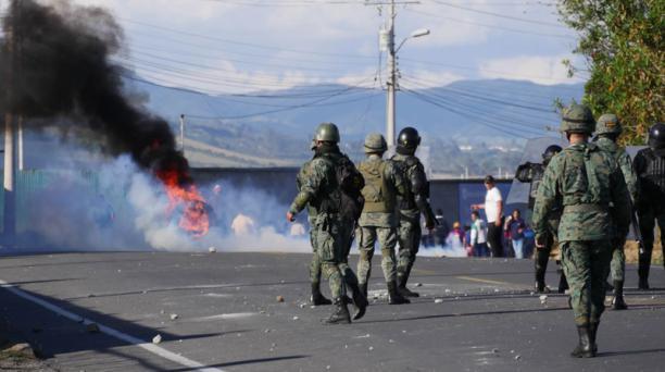 La protestas en Tulcán, provincia del Carchi, el jueves 26 de septiembre del 2019.  Foto: Javier Montalvo para EL COMERCIO
