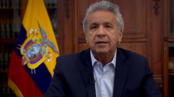 El presidente Moreno anunció la reforma tributaria que enviará a la Asamblea este viernes 18 de octubre del 2019. Foto: Captura