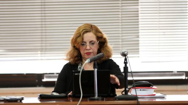 La jueza Daniella Camacho lleva adelante el proceso que investiga a 26 personas por cohecho, asociación ilícita, y tráfico de influencias. Foto: Julio Estrella / EL COMERCIO
