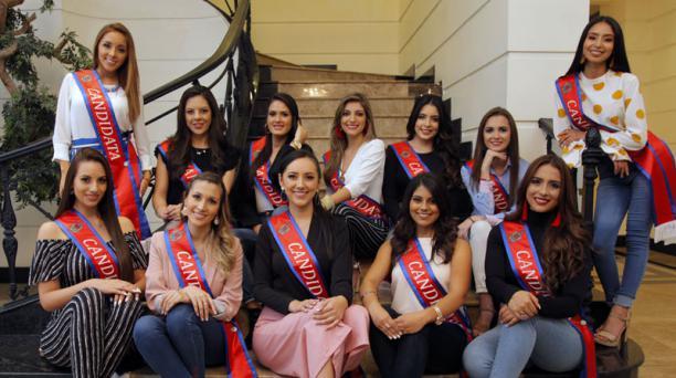 Los proyectos de las aspirantes a la corona del certamen Reina de San Francisco de Quito serán evaluadas. Las propuestas de las 12 candidatas se enfocan en género, migración, medioambiente y discapacidades. Foto: Patricio Terán/ EL COMERCIO.