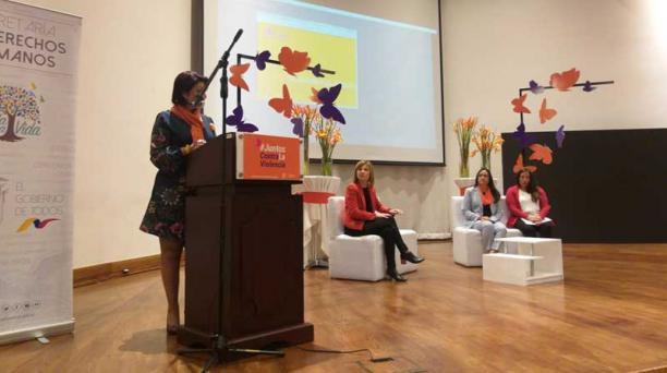 Cecilia Chacón, secretaria de Derechos Humanos, destacó la importancia de tener cifras sobre violencia para la la elaboración de política pública. Valeria Heredia/El Comercio