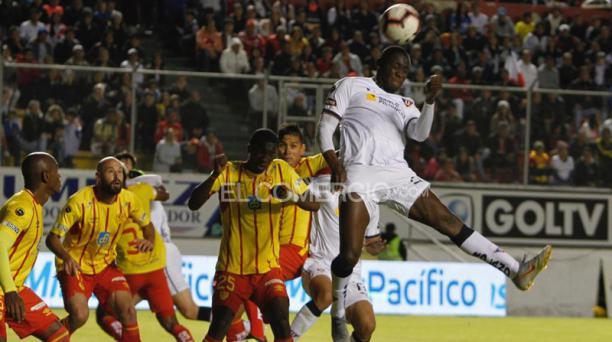Partido de ida de las semifinales del campeonato nacional LigaPro entre Aucas y Liga de Quito, jugado el sábado 30 de noviembre del 2019 en el estadio Gonzalo Pozo Ripalda. Foto: Eduardo Terán / EL COMERCIO