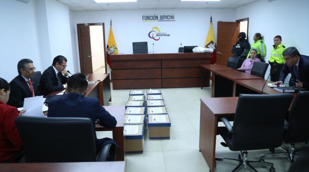 Audiencia de formulación de cargos en contra de María Sol Larrea, este lunes 2 de diciembre del 2019. Foto: Diego Pallero EL COMERCIO