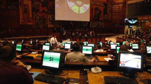 Este 30 de diciembre del 2019 se aprobó el allanamiento sobre la Ley de simplificación tributaria y se cerró la sesión en la Asamblea Nacional. Foto: Galo Paguay/ EL COMERCIO