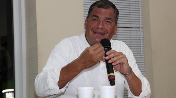 El expresidente Rafael Correa se encuentra prófugo de la Justicia de Ecuador y reside en Bélgica. Foto: Archivo/ EL COMERCIO