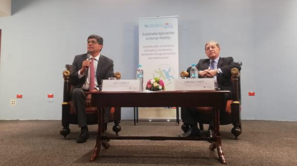 El Canciller José Valencia habló sobre el informe de la CIDH este jueves 16 de enero del 2020. Foto: Daniel Romero / EL COMERCIO