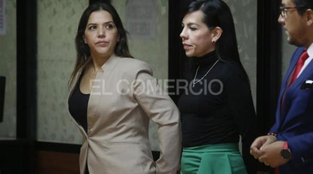 María Alejandra Vicuña fue sentenciada a un año se prisión este 30 de enero del 2020, por el caso Diezmos. Foto: Diego Pallero/ EL COMERCIO