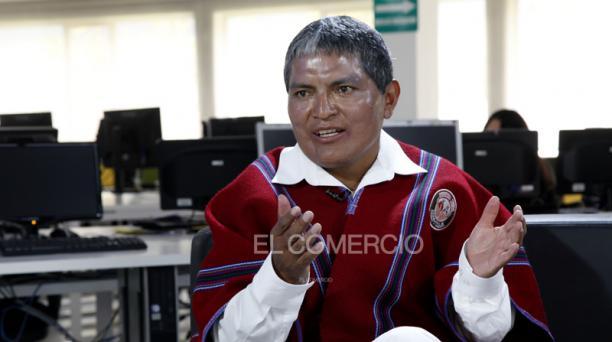 Luis Chango, presidente vitalicio del Mushuc Runa. Foto: Roberto Penafiel / EL COMERCIO