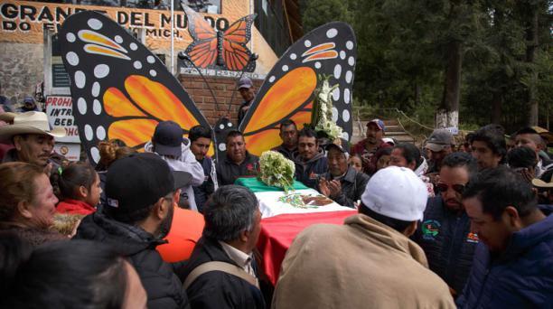El cuerpo de Raúl Hernández Romero fue hallado pocos días después del del ambientalista Homero Gómez. Ambos eran defensores de la mariposa monarca. Foto: EFE.