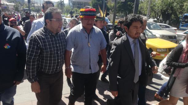 Jaime Vargas insistió en que la existencia de la justicia indígena funciona a la par de la ordinaria. Foto: Daniel Romero / EL COMERCIO