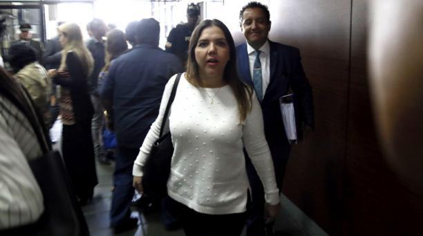 La exvicepresidenta María Alejandra Vicuña, sentenciada por el caso Diezmos, dijo que seguía laborando en su cargo en el SRI. Foto: Diego Pallero/ EL COMERCIO