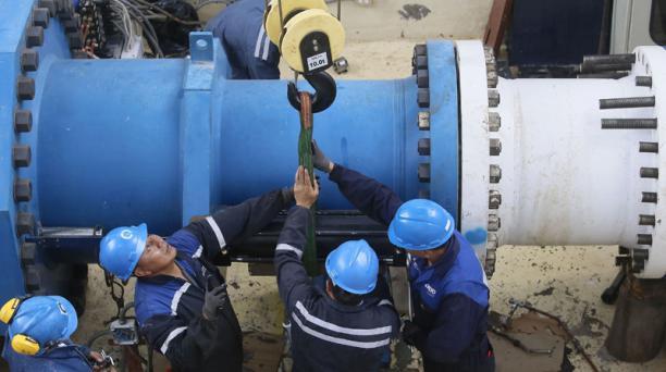 Las dos válvulas que serán reemplazadas el fin de semana están ubicadas en la Estación Reguladora La Moca. Foto: Diego Pallero / EL COMERCIO