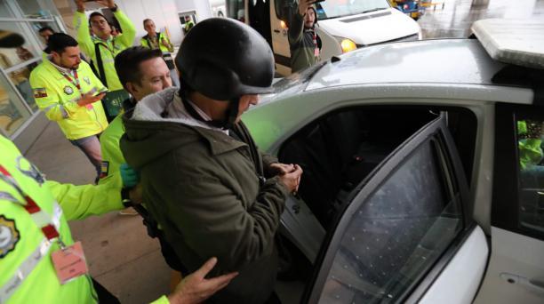 Según la Policía, el exjefe de la Senain Pablo Romero será trasladado a la cárcel de El Inca, en el norte de Quito. Foto: Secom