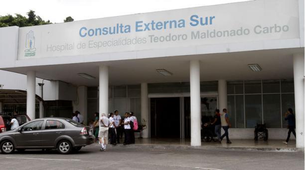 El Instituto Ecuatoriano de Seguridad Social informó que en el Hospital de Especialidades Teodoro Maldonado Carbo, del Seguro Social, no se ha detectado ningún caso de la nueva cepa Covid-19. Foto: Archivo/ EL COMERCIO