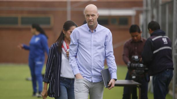 El entrenador holandés de la Tri, Jordi Cruyff, en la Casa de la Selección, en Quito. Foto: Diego Pallero / EL COMERCIO