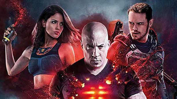 Los actores Vin Diesel (centro), Eiza González y Sam Heughan. Foto: imdb.com