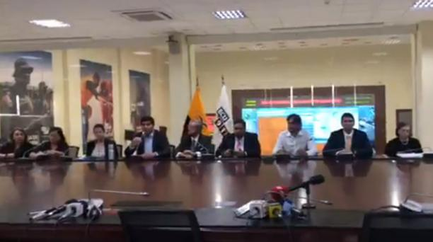 El Comité de Emergencia Nacional -presidido en Quito por el vicepresidente Otto Sonnenholzer- anunció las medidas interministeriales que se aplicarán para combatir la pandemia covid-19. Foto: captura de pantalla