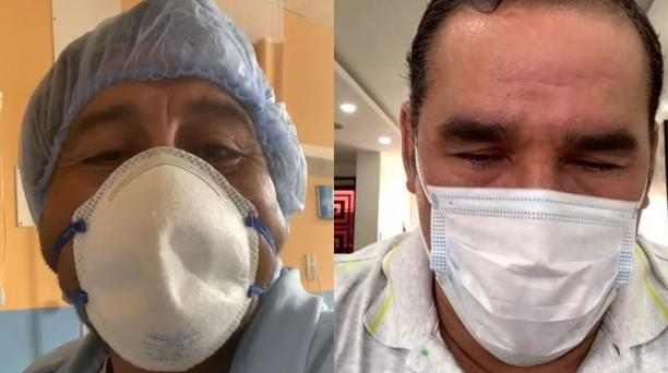 Medardo Chimbolema (izq.) es el alcalde de Guaranda (Bolívar). Está hospitalizado. Dalton Narváez (der.), alcalde de Durán (Guayas), continúa en tratamiento